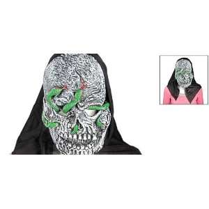 : Green Snake on Face Rubber Horrible Halloween Mask: Home & Kitchen