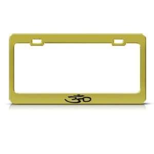 Hindu Religious Om Aum Symbol Religious Metal license plate frame Tag