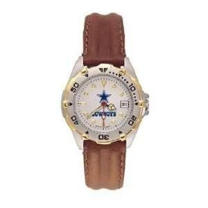 Cowboys All Star Ladies Black Leather Strap Watch