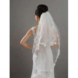 Artwedding 2T Rhinestone Waltz Wedding Bridal Veil with