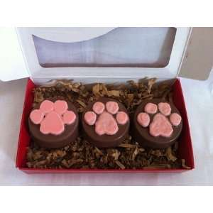 Chocolate covered Oreos with Dog Paw Prints Set of 8