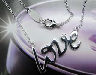 925 Sterling Silver Plated Love Letters Necklace JN142