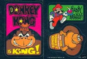 DONKEY KONG 1982 TOPPS COMPLETE BASE STICKER CARD SET