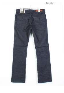 MENS VINTAGE STYLE DENIM STRAGHT LEG DARK BLUE JEANS./SEMI BOOT CUT