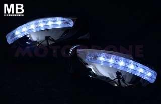 05 08 300/300c Chrome Polish White LED Signal Light Mirror Cover