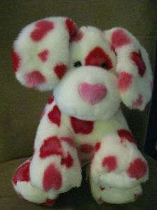New stuffed BUILD A BEAR Red Pink Hearts Valentine Dog