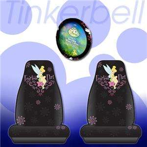 3PC Tinkerbell Fearless Seat Cover Steering Wheel Cover