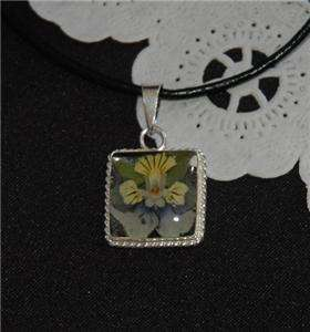 REAL Flowers in.925 Sterling Silver Pendant Timeless FREE Leather