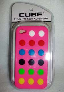 Polka Dots IPHONE 4 4S Case Silicone Cover PINK