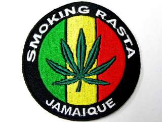 SMOKING RASTA MARIJUANA IRON ON PATCH EMBROIDERED I148