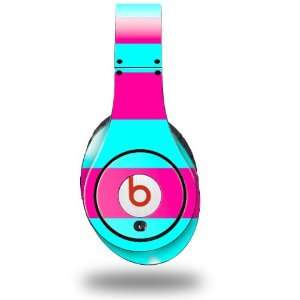 Neon Teal and Hot Pink Decal Style Skin (fits genuine Beats Studio