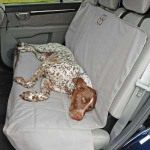 Petego Dog Car Seat Protector, Rear, Gray, X Large