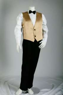 PAGE BOYS FORMAL Gold or Silver VEST 5pc SUIT Sz 1  16
