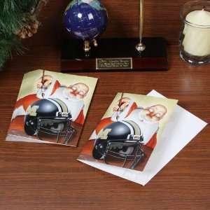 Missouri Tigers 12 Pack Single Santa Painting Design Christmas Cards