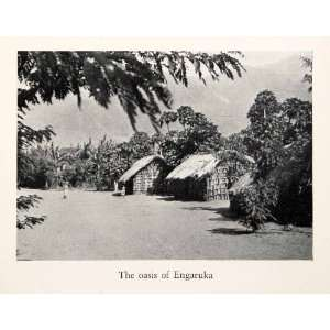 1938 Print Oasis Village Engaruka Tanzania Great Rift Valley