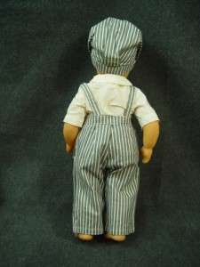 Lee Jerri Lee Doll Grey Striped Overalls White Shirt w/tags Cap