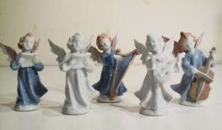 VTG PORCELAIN PUTTI CHERUB ANGEL CHOIR FIGURE STATUE