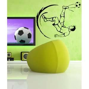 Vinyl Wall Decal Sticker Soccer Football Player Kick