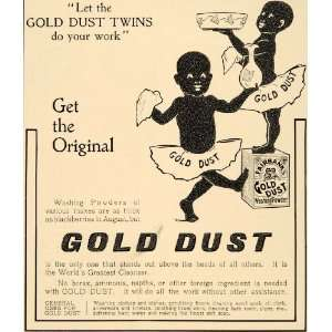 1905 Ad Gold Dust Twins Fairbanks Washing Powder Soap   Original Print