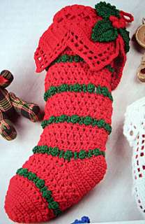 CHRISTMAS STOCKINGS Crochet Project Pattern Book New OP
