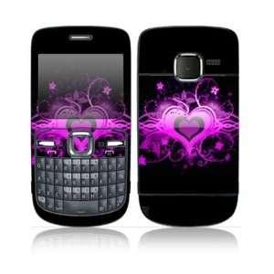 Nokia C3 00 Decal Skin Sticker   Glowing Love Heart