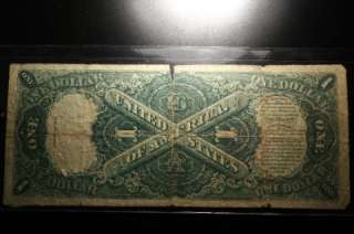 AUTHENTIC 1917 $1 DOLLAR BILL NICE NOTE #019