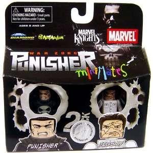 Marvel MiniMates Exclusive Punisher and Jigsaw Toys