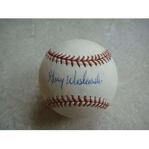 Gary Waslewski Autographed Baseball   red Sox Official Ml