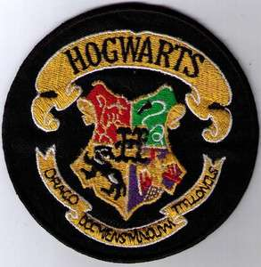 HARRY POTTER HOGWARTS SCHOOL CREST PATCH IRON ON SEW ON