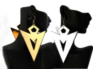 POParazzi Inspired Mirror Polished Arrow Shaped Earrings Large