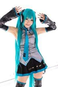 Vocaloid Hatsune Miku Cosplay WIG + 2 Ponytails 120cm