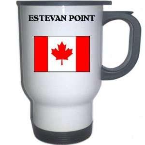Canada   ESTEVAN POINT White Stainless Steel Mug