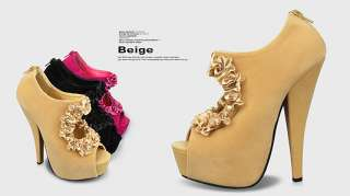 2012 Newest High Heels Womens Shoes Open Peep Toe Platform Sandals