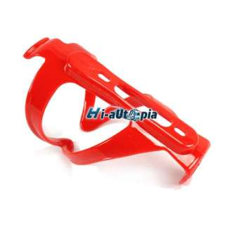 New Red Plastic Bike Bicycle Water Bottle Cage Holder |