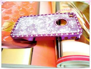 LUXURY BLING DIAMOND MARBLE CHROME CRYSTAL CASE BACK COVER IPHONE 4 4G