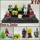Plants vs. Zombies to new 2 Figures lot of 10 pcs loose dh41 items in