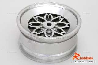 10 RC Car VINTAGE SAKURA FR 26mm CHROME Wheel Rim 4p