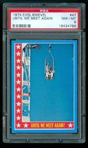 1974 Topps EVEL KNIEVEL Trading Card #47 PSA 8 L@@K