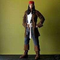 Disney CAPTAIN JACK SPARROW Pirate Costume NEW Mens L
