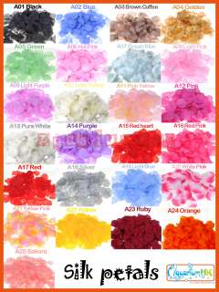 100 pcs Silk Rose Petal Wedding Party Decoration Multiple Colors