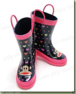 Paul Frank Julius Rain Boots Shoes Toddler Girls Pink