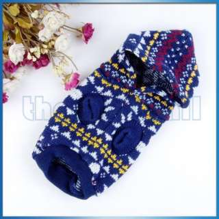 Pet Dog Puppy Sweater Knitwear Coat Apparel Clothes Hoodie/Turtleneck