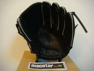 ZETT Special Order 11.5 Pitcher Baseball Glove Black Japan Kip RHT