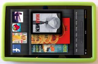 NEW Kindle FIRE GREEN Silicone Gel Skin Case Cover 3G Wifi   QUICK