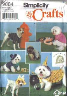 OOP Dog Pet Accessories Clothes Beds Costumes Simplicity Sewing