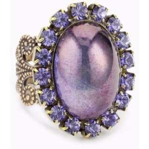 Liz Palacios Piedras Purple Swarovski Crystal And Glass