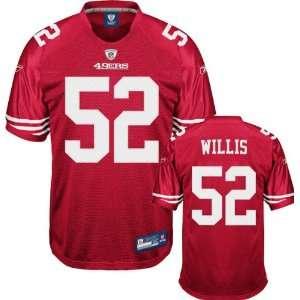 Patrick Willis Jersey Reebok 2009 Authentic Red #52 San