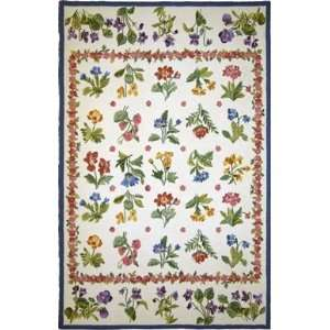 MER Rugs Petit Point P95 Ivory   5 6 x 8 6: Home