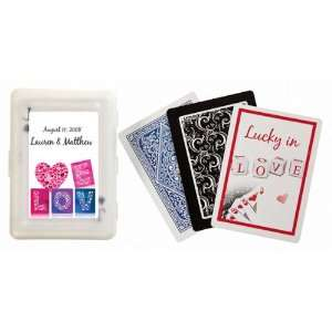 Mosaic Personalized Playing Card Favors   with Personali (Set of 30