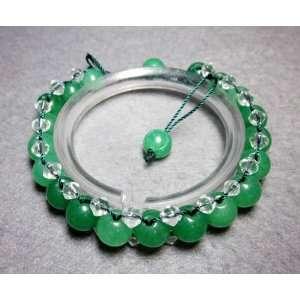 Green Jade Crystal Quartz Beads Bracelet